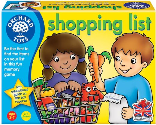 Shopping list -peli